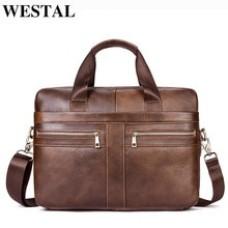حقيبة رجالي صغيرة من الجلد الطبيعي من نوع WESTAL  موديل 2019